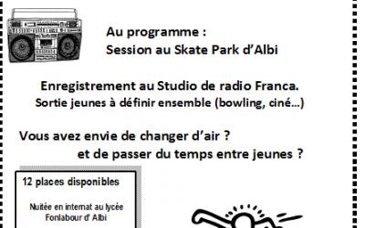 Séjour skate et radio dans le Tarn