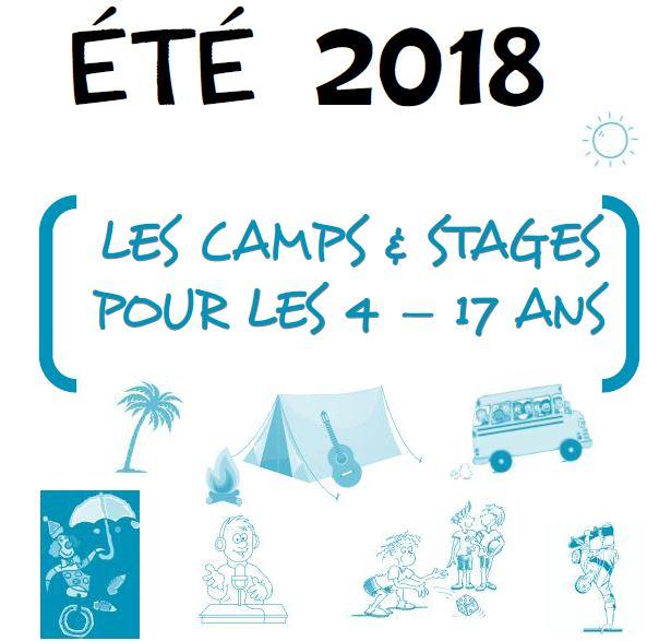 Eté 2018 : tous les camps et stages pour les 4-17 ans !