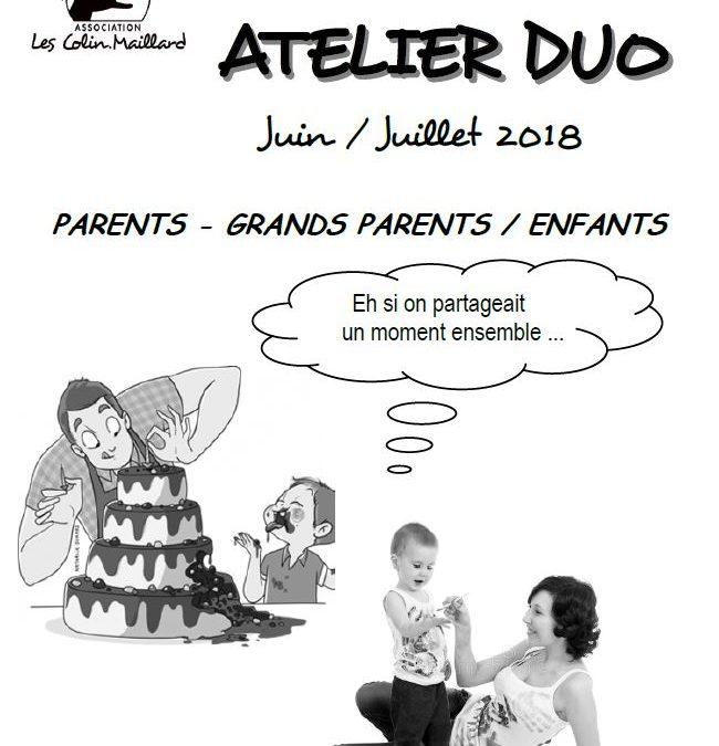 Ateliers parents-enfants Juin/Juillet