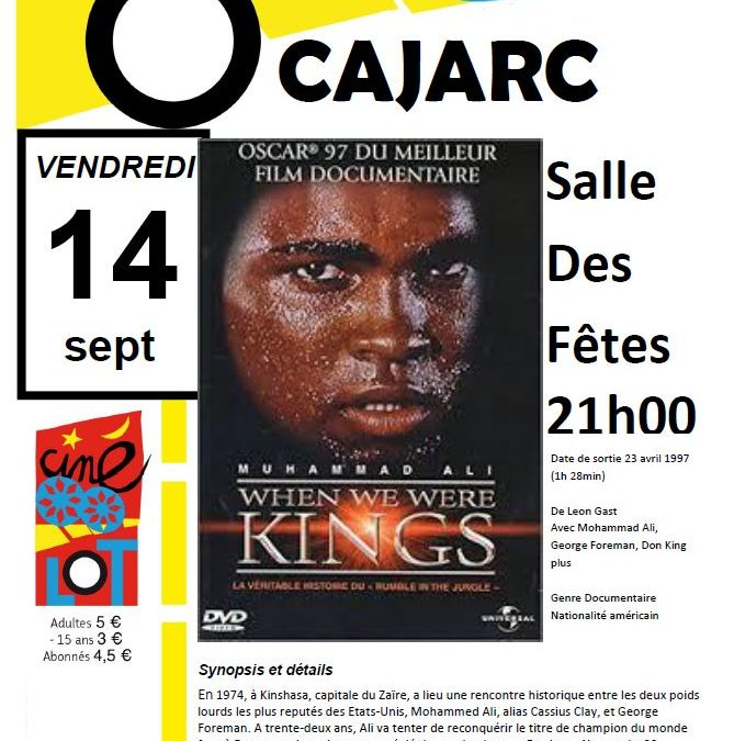 Ciné Lot le 14 Septembre