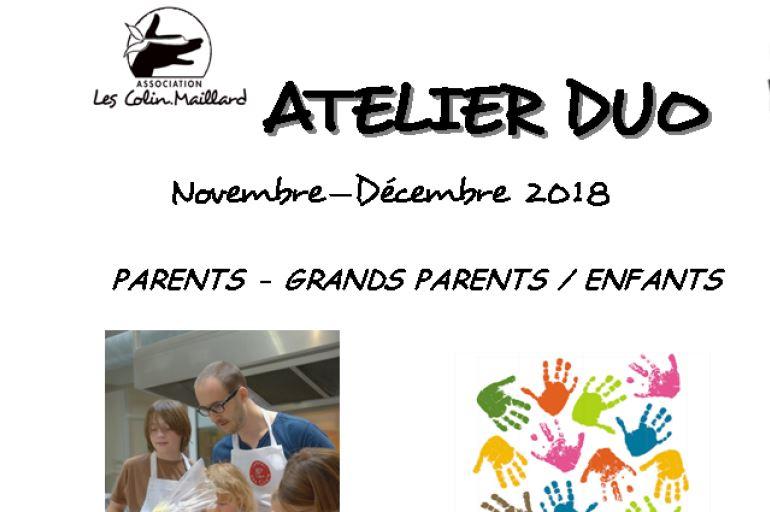 Programme Novembre-Décembre des ateliers duo parents/enfants
